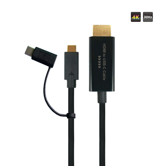 HDMI to Type C M-M Cable 1