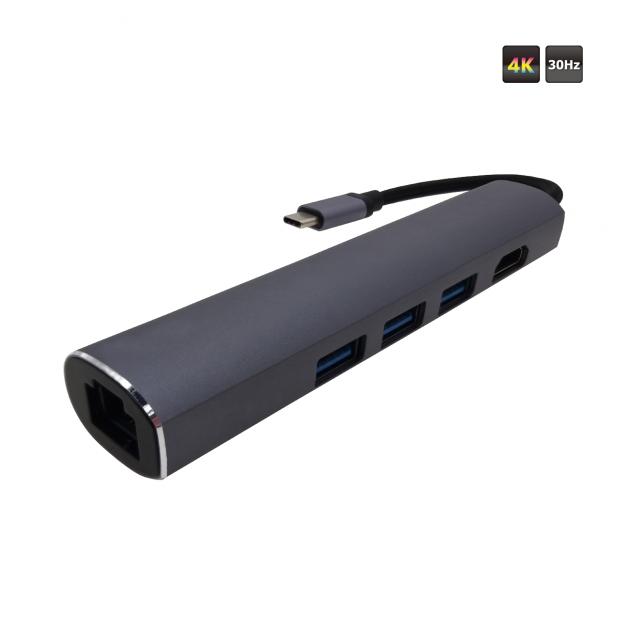 Type C to HDMI + USB 3.1 AFx3 + LAN Converter 1